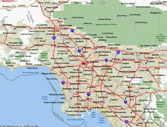 awesome Map of Los Angeles California