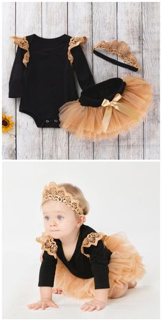 Princess Lace Ruffle Romper Tutu Skirt and Crown Headband 3 Pcs Set in Black infant outfit,outfit fo Ruffle Romper, Lace Ruffle, Birthday Girl Meme, Husband Birthday, Birthday Bash, Birthday Ideas, Happy Birthday, Mommys Girl, Carters Baby Boys
