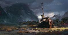 ArtStation - Shipwreck, Rytis Sabaliauskas