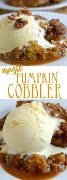 This yummy pumpkin dessert is so easy to make and tastes just like fall it is absolutely incredible with a scoop of vanilla ice cream! Holiday Desserts, Just Desserts, Holiday Recipes, Delicious Desserts, Oreo Desserts, Fall Dessert Recipes, Fancy Desserts, Pumpkin Recipes, Easy Pumpkin Desserts