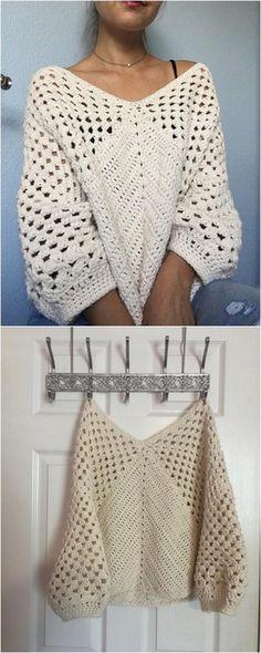 V Neck Shirt Free Crochet Pattern