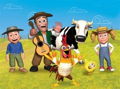Farm Animal Birthday, Baby Shawer, Farm Animals, Mickey Mouse, Disney Characters, Fictional Characters, Picsart, Stickers, Ideas