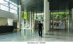 Paris, France, French Public Hospitals, New Construction, Architecture, Tenon, Inside Main Hallway - Stock Image