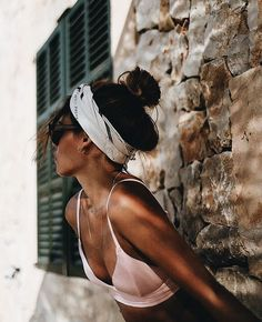 For vacation looks, having a bandana and hair up can really put me in the vacay mood. #12thtribevibes #shop12thtribe