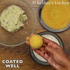 how to make bread cheese balls recipe, cheese bread balls with step by step photo/video. cheesy snack made from leftover bread slices and mozzarella cheese. Cereal Recipes, Snack Recipes, Cooking Recipes, Vegetarian Breakfast, Vegetarian Recipes, Chaat Recipe, Cheese Ball Recipes, Cute Food, Yummy Food