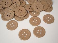 botões de papel