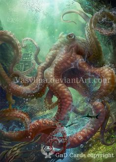 octopus by Vasylina. #steampunk #victorian #Art #gosstudio .★ We recommend Gift Shop: http://www.zazzle.com/vintagestylestudio ★