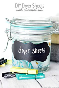 DIY Dryer Sheets with Essential Oils!