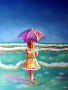 My Parasol  Pastel  Artist Joseph Chubb