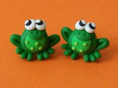 Hey, I found this really awesome Etsy listing at http://www.etsy.com/listing/121392476/frog-stud-earrings-polymer-clay-fimo