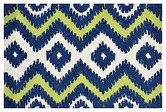 "One Kings Lane - Small Statements - 1'10""x2'10"" Ziggy Rug, Navy/Green/White $45"