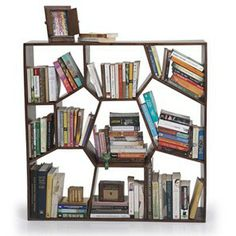 Honeycomb Bookcase (Teak Finish) - http://www.urbanladder.com/racks-shelves/bookshelf-bookcase/honeycomb-bookcase-teak-finish.html