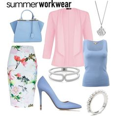 summer work wear by sheena-sapphire on Polyvore featuring Michael Kors, Quiz, River Island, Fendi, The Limited and Lee Renee