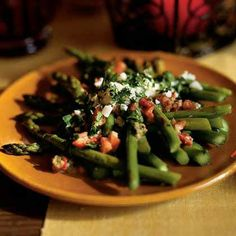 Asparagus Salad with Piquillo Peppers and Capers (Ensalada de Esparragos con Alcaparras) by Cooking Light