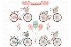 Wedding Bike Clipart - Illustrations - 1