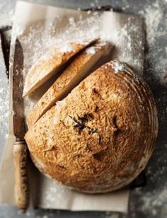 Bread with smoked flour