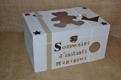 Boîte à souvenirs / rangement bébé / enfants nounours blanc et Beige : Chambre d'enfant, de bébé par le-ptit-cabanon