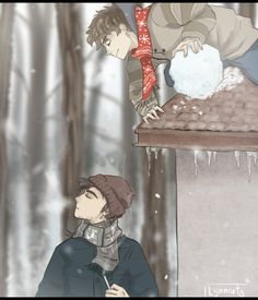 Lynnarty — Tim and Toby : SnowPuff. but its Icy :v Happy.