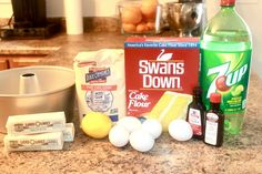 Ingredients for 7up Pound Cake from Scratch Five Flavor Pound Cake, 7up Pound Cake, Easy Pound Cake, Buttermilk Pound Cake, Cream Cheese Pound Cake, Pound Cake Recipes, Easy Cake Recipes, Pound Cakes, Dessert Recipes