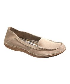 Take a look at this Taupe Mindset Slip-On Shoe - Women by Hush Puppies on #zulily today!