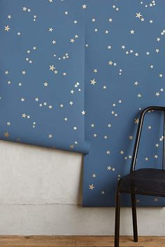 Super cute for nursery ceiling! Wish Upon A Star Wallpaper - anthropologie.com