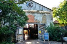 Gristmill Restaurant in Gruene, TX.  I had chicken fried chicken, Phillip had bronzed catfish.  Yummy, but open air and very warm!