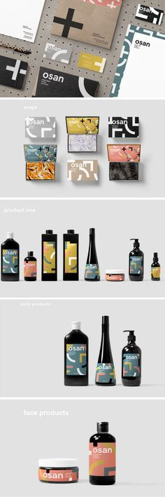 Osan Cosmetics branding and packaging (student project) by Ronnie Alley