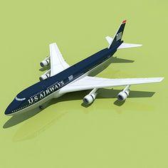 Boeing 747 3D Model - 3D Model
