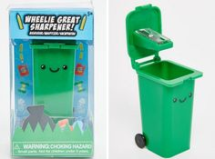 A garbage bin designed specifically for your pencil shavings. | 30 Ingeniously Designed Versions Of Everyday Products