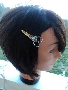Hair Stylist Scissor Charm Hair Clip with by ShearStyleJewelry, $8.00