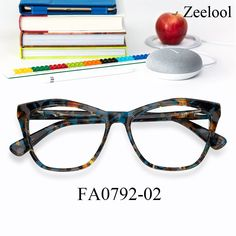 ca04f1dfe23 Alicia Cateye Brown-Blue Glasses FA0792-02