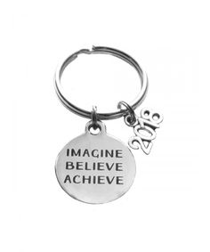 Imagine- Believe- Achieve 2018 Charm Keychain- Bag Charm- Inspirational  Graduation Gift - C6182W0OUWO bafb8e7a1