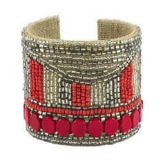 Disco Dot Devi Cuff in Bubbly & Fire by Sam DuPont