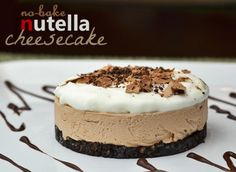 No Bake Nutella Cheesecake Recipe - Wanna Bite