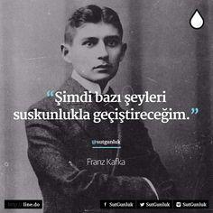 Şimdi bazı şeyleri suskunlukla geçiştireceğim. - Franz Kafka #sözler #anlamlısözler #güzelsözler #manalısözler #özlüsözler #alıntı #alıntılar #alıntıdır #alıntısözler