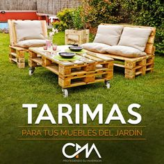 ¿Como reutilizar tarimas para tus muebles del jardín?  #protegiendosuinversion #CMA
