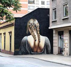 Stunning work by @grasosobremagro in Santiago, Chile (http://globalstreetart.com/barriga) #globalstreetart