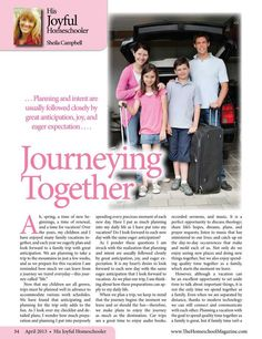 Journeying Together - The Old Schoolhouse Magazine - April 2013 - Page 34-35
