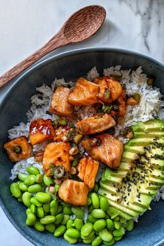 Teriyaki Salmon Sushi Bowl Recipe - My Gluten Free Guide Good Healthy Recipes, Healthy Snacks, Healthy Eating, Healthy Foods To Make, Healthy Sweets, Easy Recipes, Seafood Recipes, Cooking Recipes, Chicken Recipes