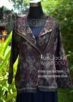 Jual Baju Outer Tenun Ikat Endek Bali Padu Padan Praktis bagi Hijabers