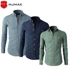 Slim Fit Denim Shirt - Long Sleeve - 4 Colors - M - 4XL