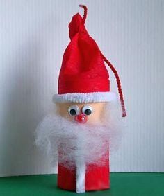 Babbo Natale con rotoli di carta n. 4
