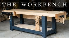The PERFECT Woodworking Workbench // How To Build The Ultimate Hybrid Workholding Bench How to make the PERFECT woodworking workbench! This massive hybrid bench (part French Roubo, part G Woodworking Bench Plans, Learn Woodworking, Woodworking Projects, Diy Projects, Youtube Woodworking, Woodworking Garage, Woodworking Furniture, Woodworking Chisels, Japanese Woodworking