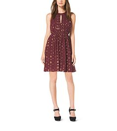 Polka-Dot Jacquard Dress by Michael Kors