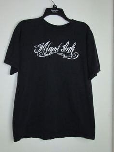 Miami Ink T-Shirt Size Large Chris Garver Fish Black #MiamiInk #GraphicTee
