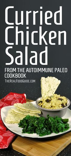 Curried chicken salad recipe from The Autoimmune Paleo Cookbook – Book Review & Giveaway! - The Real Food Guide