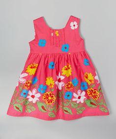 Another great find on #zulily! Pink & White Flower Dress - Toddler & Girls by Leighton Alexander #zulilyfinds