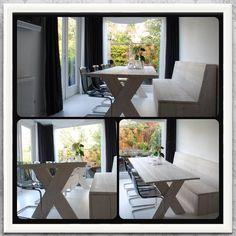 Eethoek xl (2.60) steigerhout meubel