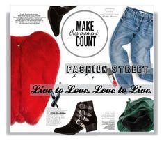 """Estilo de Rua - Fashion"" by railda-pereira ❤ liked on Polyvore featuring Yves Saint Laurent, Toga, Clé de Peau Beauté, black, red, GREEN and Boots"