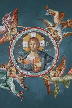 Icon of Jesus Christ Religious Images, Religious Icons, Religious Art, Byzantine Icons, Byzantine Art, Christ Pantocrator, Sacred Heart Tattoos, Roman Church, Christian Artwork